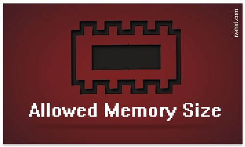 حل مشکل Allowed memory size