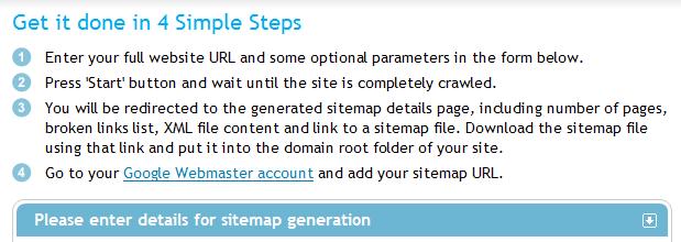 ایجاد نقشه سایت توسط سایت xml-sitemaps.com