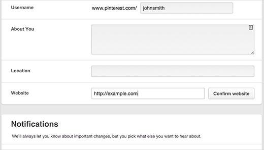 آموزش تائید سایت وردپرسی روی Pinterest