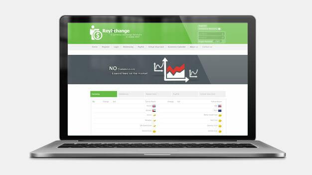 طراحی وب سایت reyxchange.com