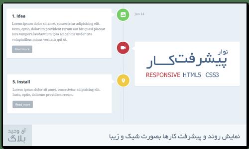 دانلود نوار پیشرفت کار HTML5 CSS3
