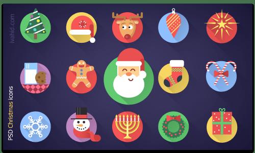 فایل لایه باز آیکون کریسمس Christmas
