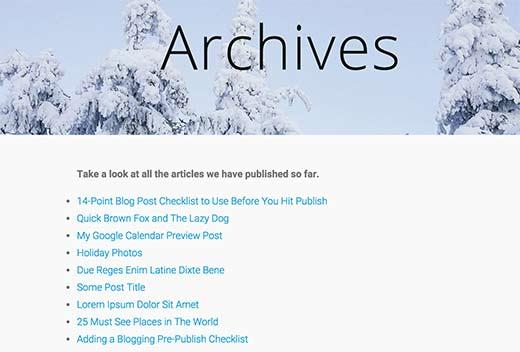 نمایش تمام مطالب سایت درون صفحه