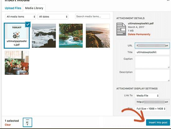 آموزش آپلود فایل پی دی اف درون سایت وردپرس