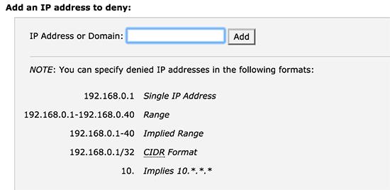 آموزش بلاک کردن آدرس آی پی در وردپرس