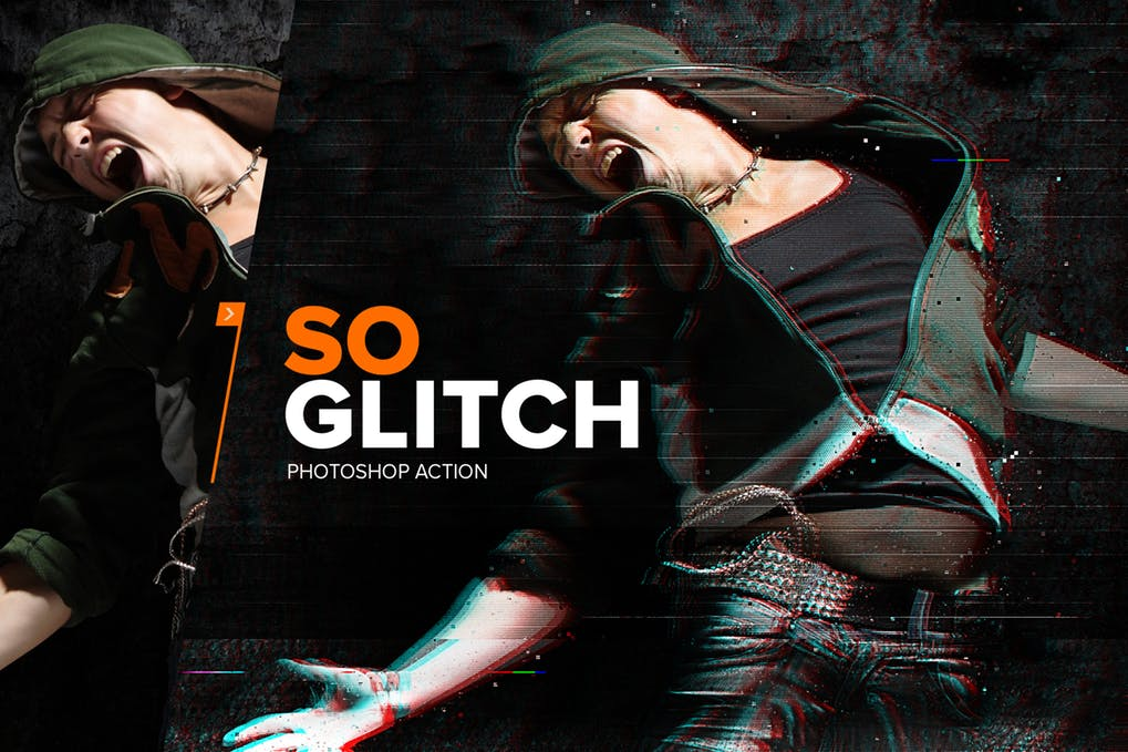 دانلود اکشن SoGlitch برای فتوشاپ