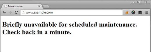 رفع خطای Briefly Unavailable for Scheduled Maintenance