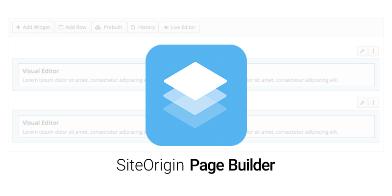 افزونه‌ Page Builder by SiteOrigin