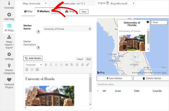 آموزش قرار دادن نقشه بینگ درون وردپرس - با کمک افزونه