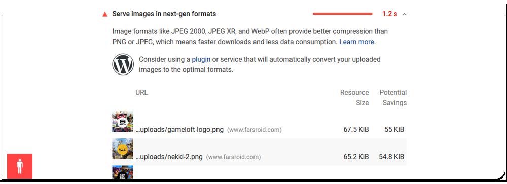 تصاویر WebP در وردپرس