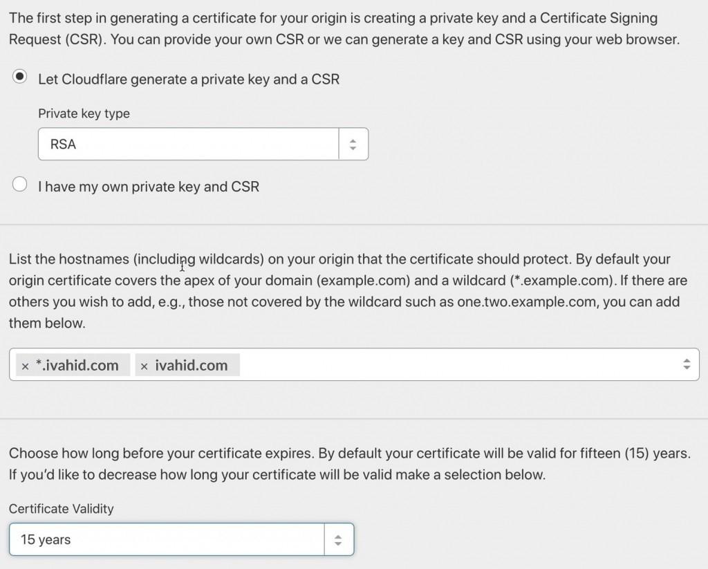 مسیر گواهی SSL وردپرس