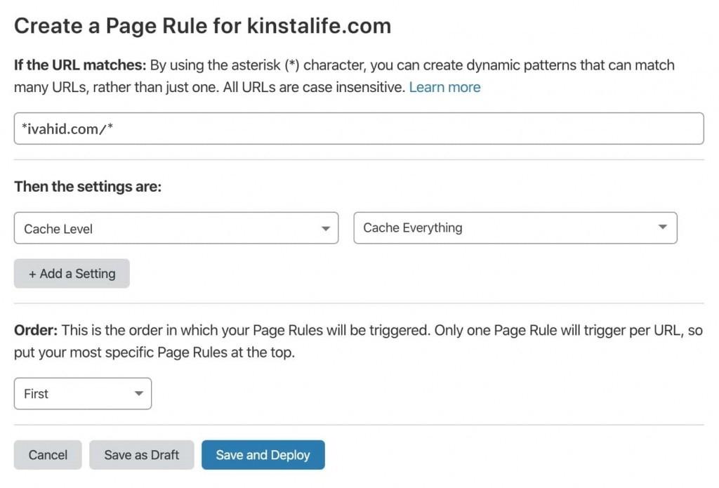 ابزار تنظیم حافظه کش HTML به کمک Page Rule کلودفلر
