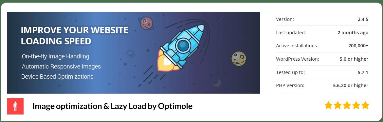 افزونه Image optimization and Lazy Load by Optimole