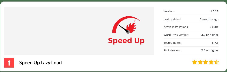 افزونه Speed Up - Lazy Load