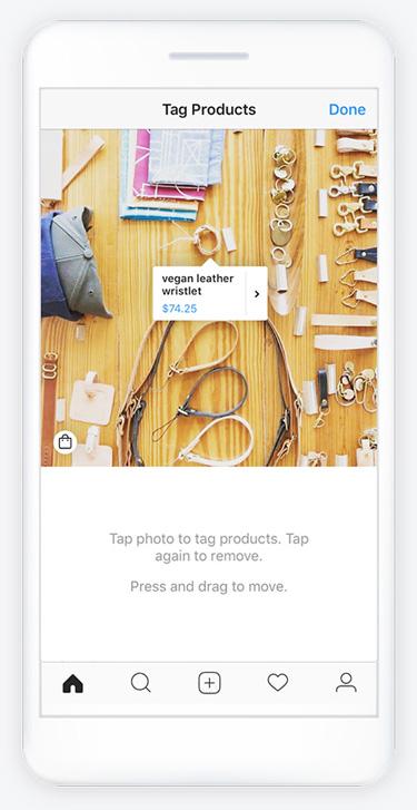 تگ محصولات در پست اینستاگرام